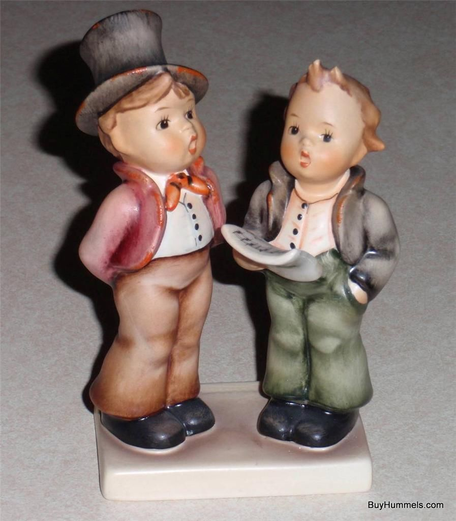 "Primary image for ""Duet"" Goebel Hummel Figurine #130 TMK5 Two Boys Singing - EXCELLENT"