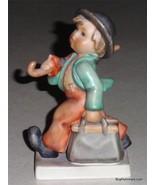 """""""Merry Wanderer"""" Goebel Hummel Figurine #11/0 TMK5 Boy W/ Suitcase & Umb... - $47.28"""