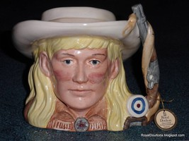 Annie Oakley Character Toby Jug D6732 Royal Doulton Wild West Collection 1984 - $101.12