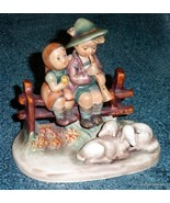 """Eventide"" Goebel Hummel Figurine #99 TMK3 Boy & Girl On Fence - GREAT G... - $130.94"