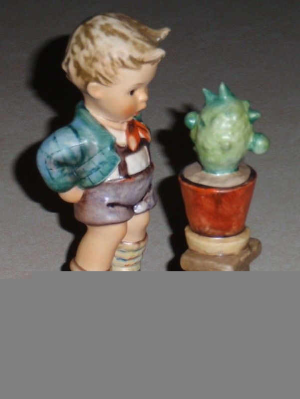 "Primary image for ""Confidentially"" Goebel Hummel Figurine #374 Boy With Plant TMK6 Mother's Day"
