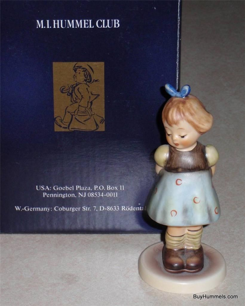 "Primary image for ""Two Hands One Treat"" Goebel Hummel Figurine #493 TMK7 M.I. HUMMEL CLUB 1991"