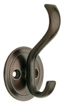 Coat and Hat Hook with Round Base, Venetian Bronze, Packaging May Vary