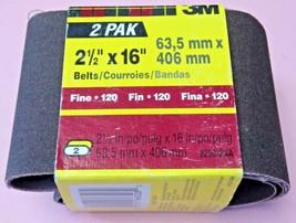 """3M 9250-2NA 2-1/2"""" x 16"""" Fine 120 Grit Sanding Belts (2 Pack) - $2.97"""