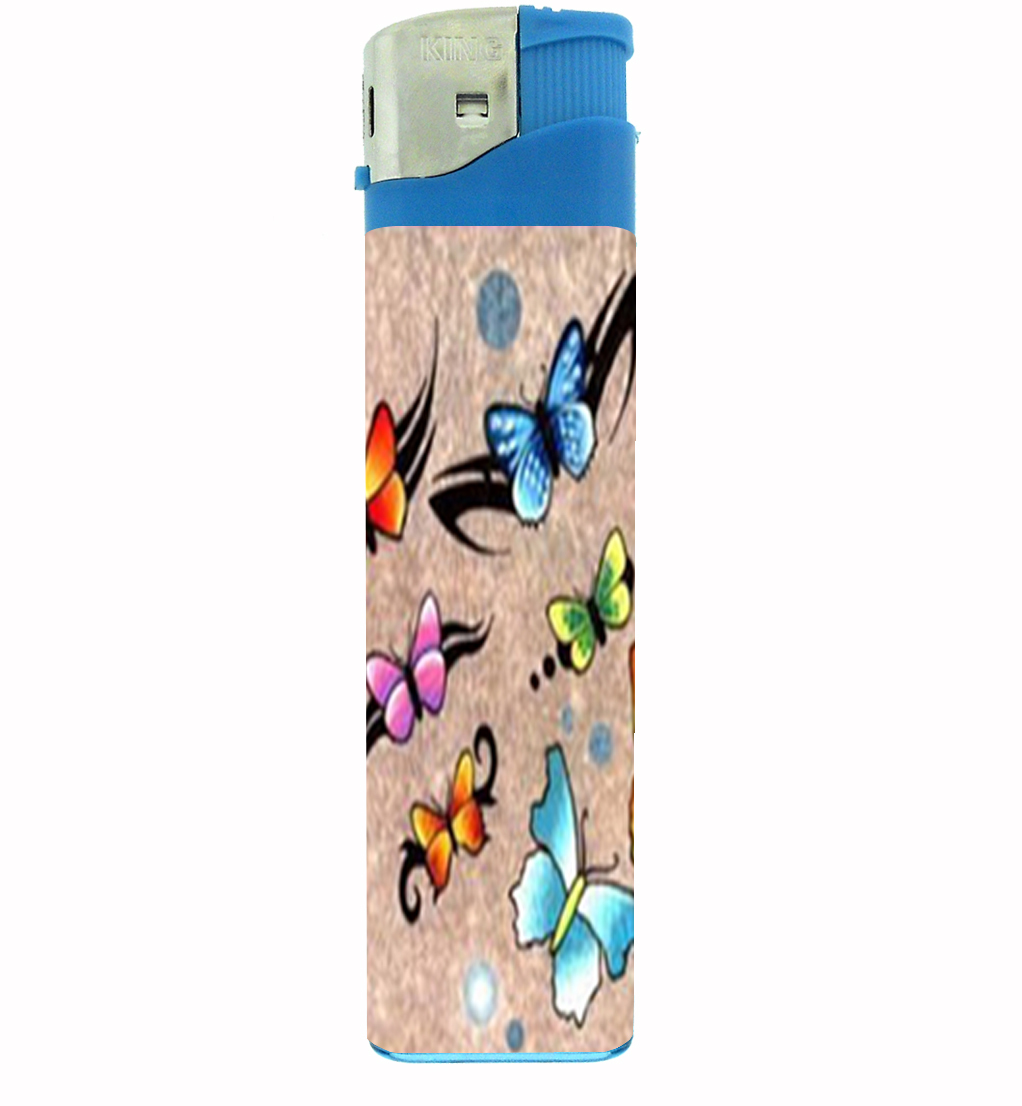 Primary image for Butterfly Colorful Modern Art Jumbo Lighter D-216