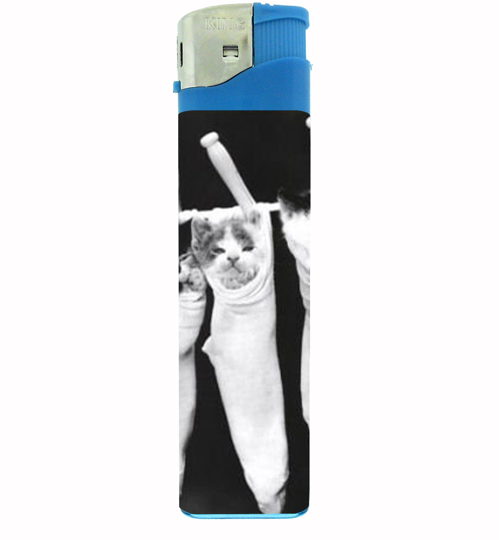 Primary image for Kittens In Stockings Cute Cats Jumbo Lighter D-157