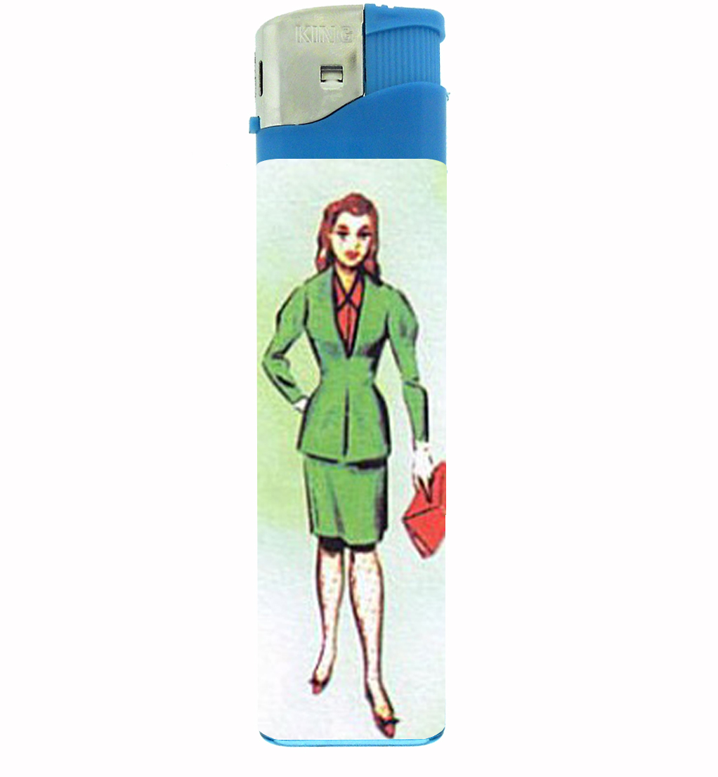 Primary image for Loteria Mexican Woman Jumbo Lighter D-331