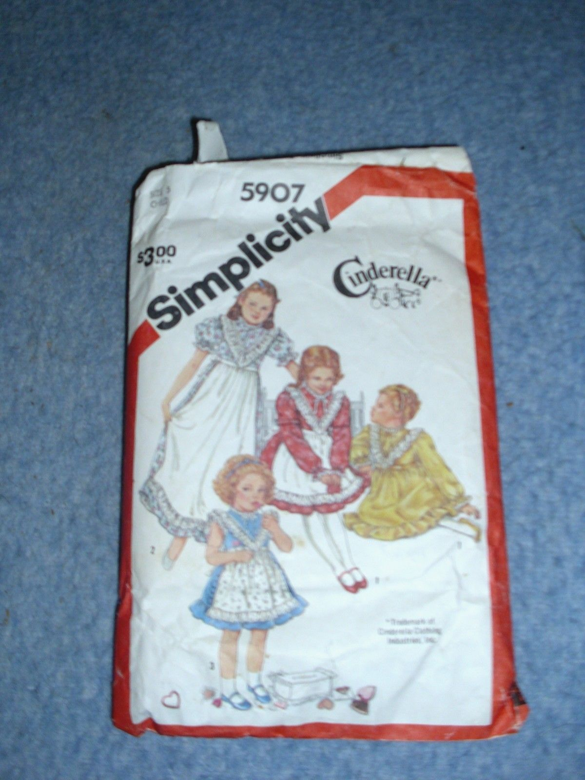 Primary image for Simplicity 5907 Child's Size 5 Cinderella Trademark Dress Pattern 1983 UNCUT