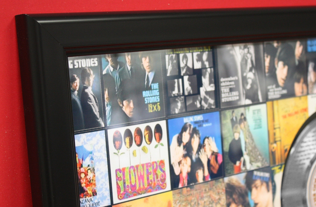 ROLLING STONES  LARGE FRAMED PLATINUM 45 RECORD DISPLAY FAST FREE SHIPPING