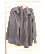 Men's BERGAMO NEW YORK FITTED XXL BLACK Long-Sleeve Shirt - $29.20