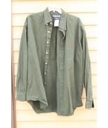 Men's Polo by RALPH LAUREN Shirt~ Dark Green color XL , Long Sleeve - $29.20
