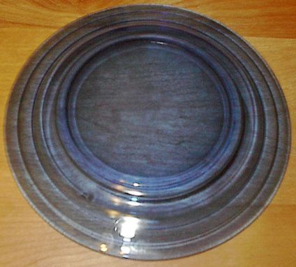Moderntone Depression Glass Cobalt Blue Dinner Plate #1