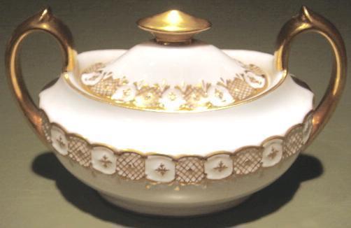 Heraldic sugar bowl