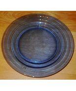 Moderntone Depresssion Glass Cobalt Blue Dinner Plate - $9.95