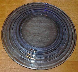 Moderntone Depresssion Glass Cobalt Blue Sherbet Plate