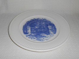 Wedgwood College of Notre Dame Maryland Baltimore The Gate Blue Transfer Plate - $32.17