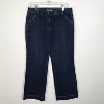 Ann Taylor Petites women's Signature fit dark wash wide leg jeans 8P - $13.99