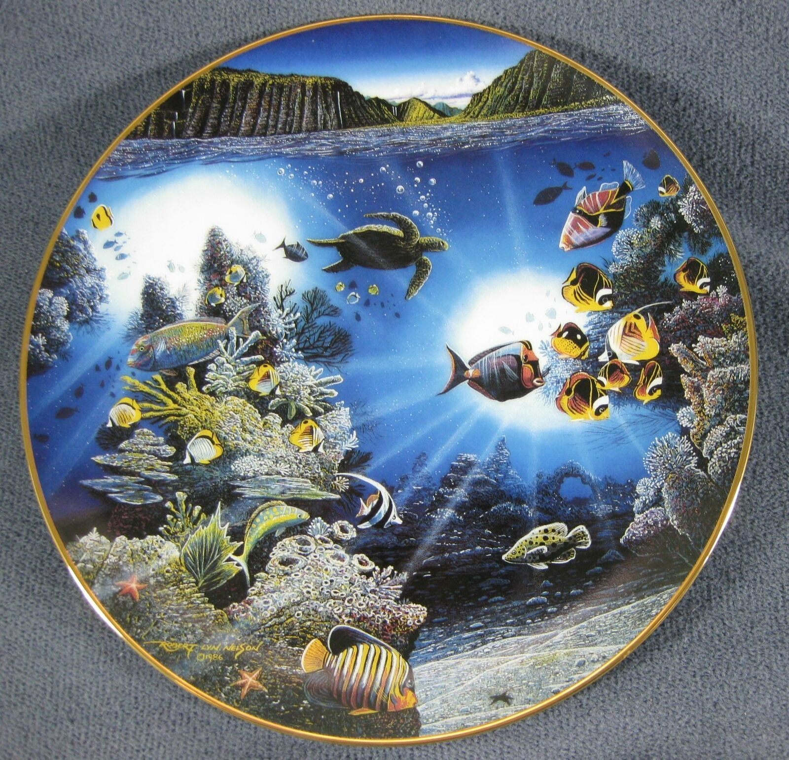 Primary image for Serenity Of Waipio Collector Plate Underwater Paradise 1991 Robert Lyn Nelson