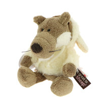 NICI Jolly Wolf Stuffed Animal Plush Toy Dangling 6 inches - $16.00