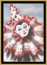 Fairground Clown cross stitch chart Mystic Stitch - $14.40