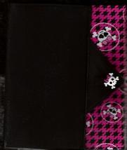 Pink Skull Design Custom Made Apple iPad Folio Cover Case W/Velco Snap Brand New - $29.95