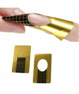 20 Nail Art Gold Guide Forms Acrylic / UV Gel Tips Extensions Manicure S... - $2.69