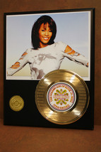 WHITNEY HOUSTON LTD RECORD DISPLAY ETCHED W/ I WILL ALWAYS LOVE YOU - $89.95