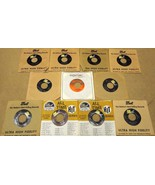 Bundle of 11 Miscellaneous 7in Vinyl Records Do... - $31.99
