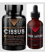 Absonutrix Cissus  Quadrangularis 120 caps and Deer Antler  - $34.99