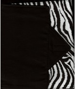 Zebra Design Custom Made Apple iPad Folio Cover Case W/Velco Snap Brand ... - $29.95