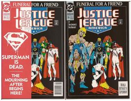DC Justice League America #70 Lot Both 1st & 3rd Printings Funeral For A... - $19.95