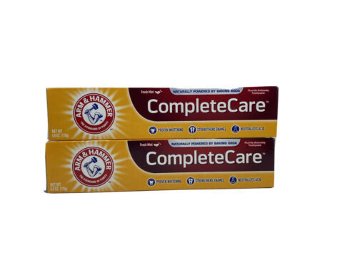 2 Tubes Arm & Hammer Complete Care Toothpaste Fresh Mint 6Oz Each New - $11.33