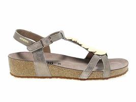 Sandalia plana MEPHISTO IRMA P de gamuza taupe - Zapatos Mujer - $152.94