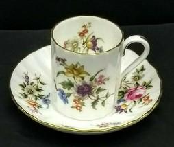 Royal Worcester Fine Bone China Roanoke Pattern Demitasse Cup & Saucer - $9.85