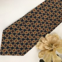 Giorgio Armani Blue & gold  Print men's silk business tie - $34.95