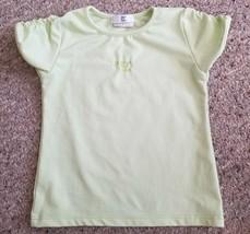 DEUX PAR DEUX Light Green Short Sleeved Top Girls Size 6 - $1.88