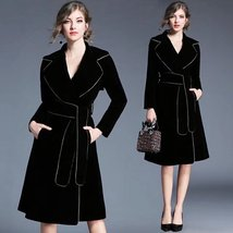 Long-sleeved suit with long sleeves and a velvet dress coat - $149.99