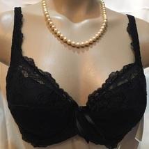 Felina Black Veronica lace lightly padded bra 7267 NEW 34C - $24.95