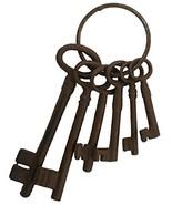 Cast Iron Skeleton Key Set Jail Cell Jailer Pirate - $8.57