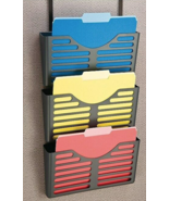 NEW DPS by Staples Verti-Go 3-Pocket Plastic Wall File Charcoal DPS21659 - $27.45