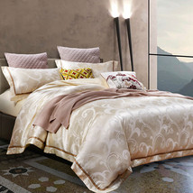 2018-new-Silk-satin-cotton-bedding-sets-full-queen-double-size-duvet-cov... - $189.00
