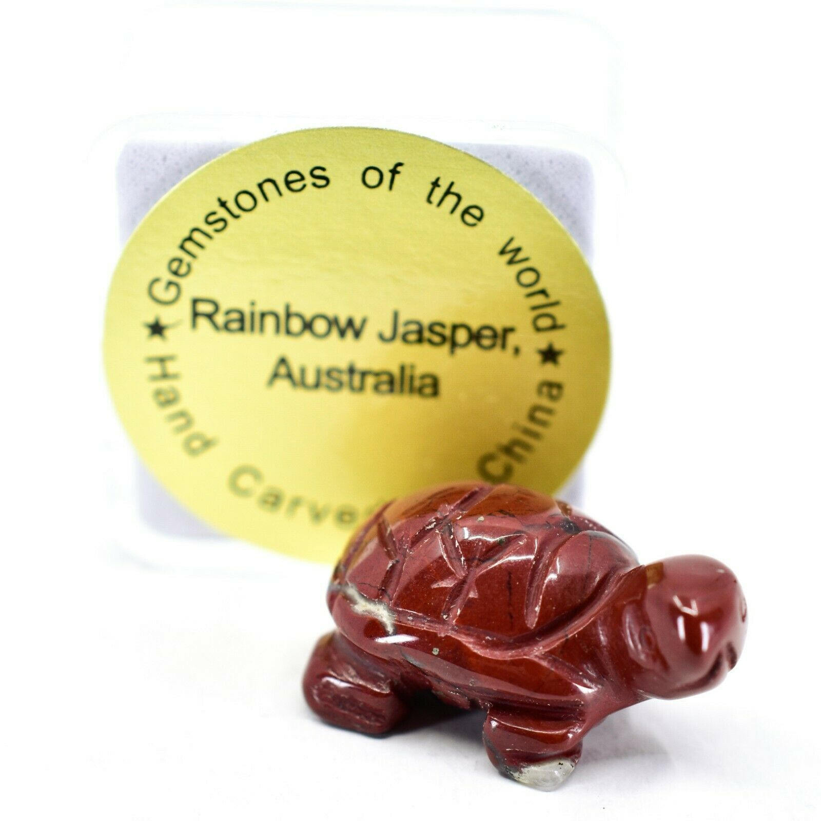 Rainbow Jasper Gemstone Tiny Miniature Turtle Figurine Hand Carved in China