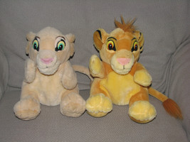 APPLAUSE STUFFED PLUSH THE LION KING SIMBA NALA CUB HAND PUPPETS SET LOT - $29.69
