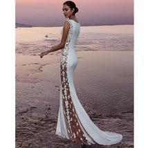 Women's New Bridal Fashion Sleeveless Lace Sexy Elegant Beach Wedding Dress image 2