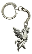 Phoenix Fire Bird Charm Keyring Arise From The Flames - Keyring Charm In... - $3.78