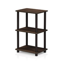 Furinno 16101WN/BR Turn-N-Tube 2 Space Shelf, Walnut/Brown - $33.07