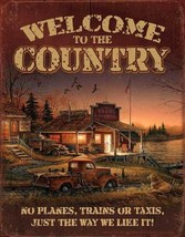 Welcome to Country Tin Sign by Terry Redlin - £12.22 GBP