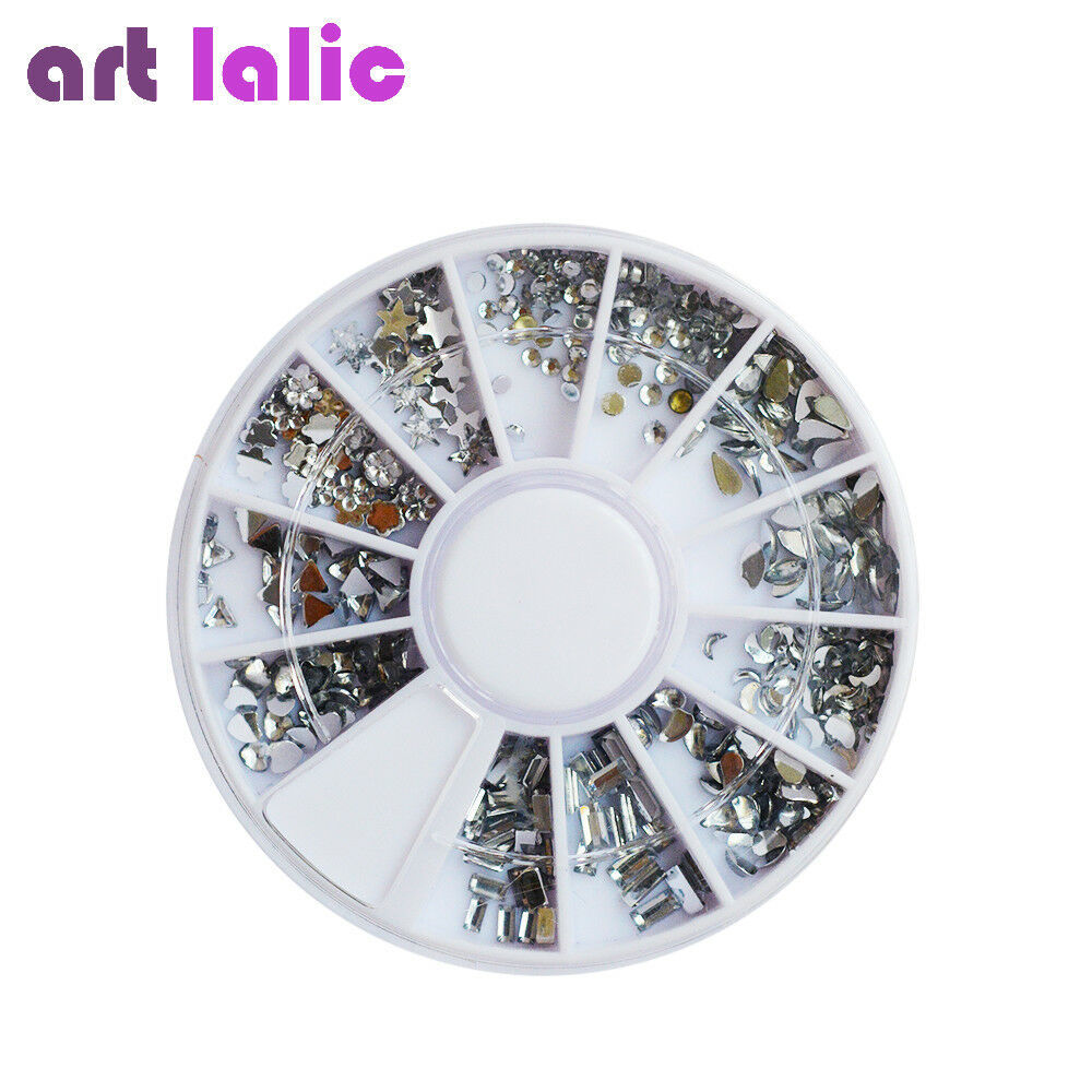 ArtLalic® Clear Transparent Diamante Rhinestone Crystal Mix Size Shape Nail
