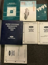 1991 FORD MUSTANG Gt Cobra Service Shop Repair Manual Set EVTM Specs - $237.55