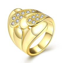 R382 Fashion Jewelry Zircon Ring(GOLDEN 8) - £5.93 GBP